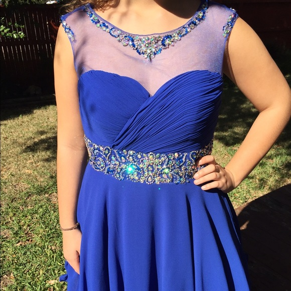 Royal Blue Dress For Wedding Or Special Event Nwt