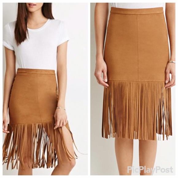Camel Fringe Dress