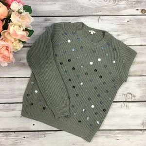 Chunky Grey Sequin Sweater