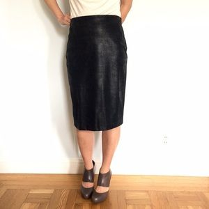 Equestrian Faux Leather Pencil Skirt 🇺🇸