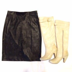 Equestrian Designs Skirts - Equestrian Faux Leather Pencil Skirt 🇺🇸