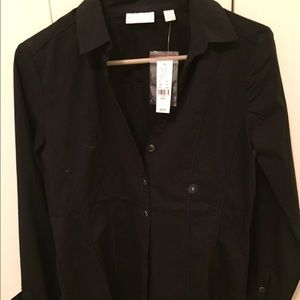 Black New York and Company button up top