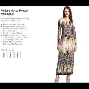 Melissa Masse Dresses & Skirts - Printed maxi dress