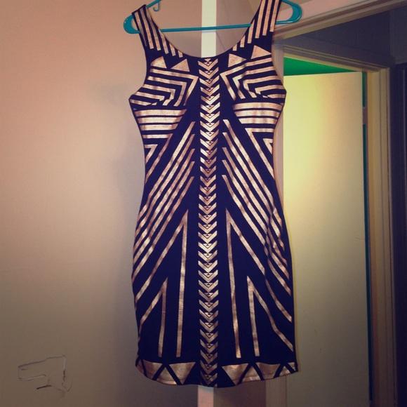 026d2ff3437c9 Charlotte Russe Dresses | Black And Gold Dress | Poshmark