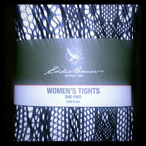 2d3069d098102 Eddie Bauer Accessories | Black Fishnet Tights Large | Poshmark