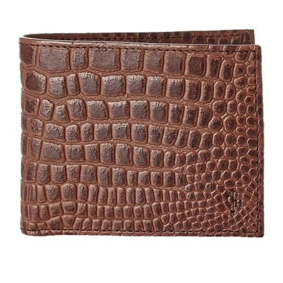 0b4e52bd8db Cole Haan Bags | Mens Wallet Chestnut Crocodile Print | Poshmark