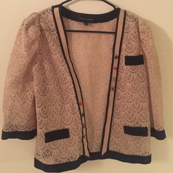 70% off Coreylynncalter Sweaters - Off-white lace cardigan from ...