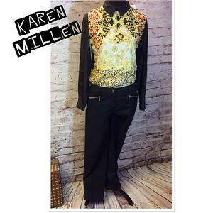 Karen Millen Pants - SZ 6 KAREN MILLEN BLACK CROP SKINNY PANTS