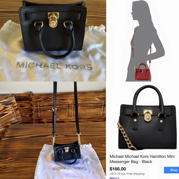 02c0112d0f9c7a AUTHENTIC MICHAEL KORS MINI MESSENGER CROSSBODY. M_568cb57587dea0d42d0bbc5f