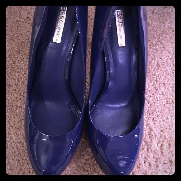 Patent Blue Heels