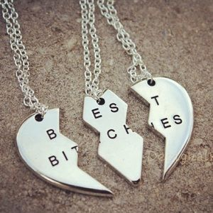 Jewelry - Best b*tches best friends BFF friendship necklace