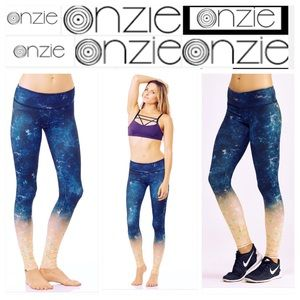 Onzie Print Yoga Time Travel Workout Leggings