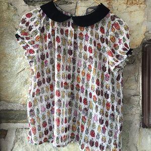 Zara Tops - Bug blouse Zara basics with button back