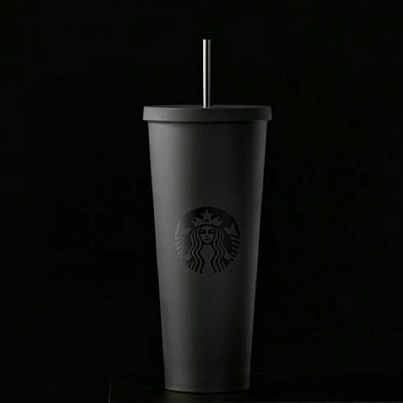 Not For Sale Starbucks Matte Black Cold Cup 24 Oz Nwt