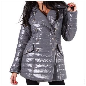 Jackets & Blazers - Buttoned Mid Length Padded Coat
