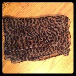 Beautiful long leopard print scarf