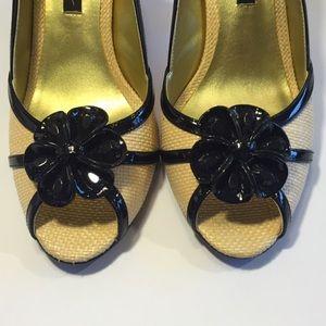 Beverly Feldman Shoes - Beverly Feldman Rosette Pumps