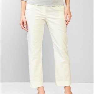 GAP off white maternity pants