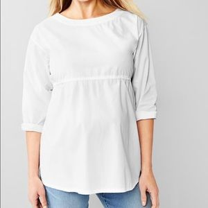 GAP poplin maternity blouse