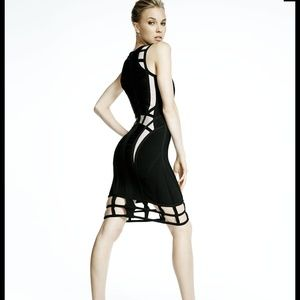 Herve Leger Dresses & Skirts - Herve Leger caged dress. X-small, NWT. Black,nude.