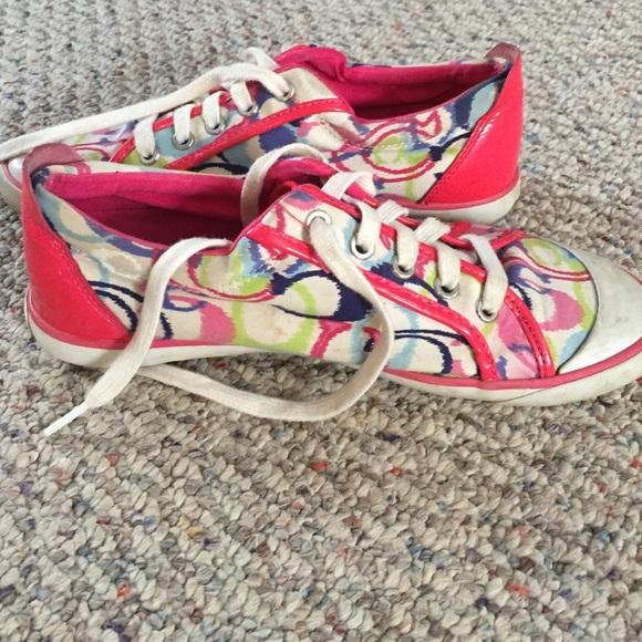 75 coach shoes pink authentic coach tennis shoes