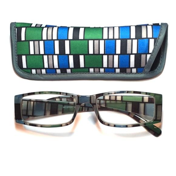 fb8b46fd08ea Accessories -  3.00 reading glasses geometric design with case