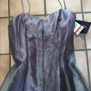 💜NWT Gray & Lavender Prom Gown Tag $172