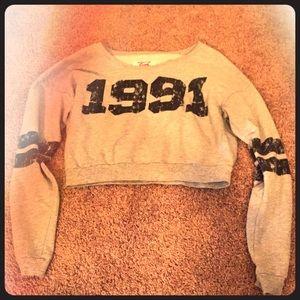 Crop Long Sleeve Gray 1991 Top