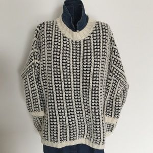LAmade Sweaters - Black and cream slouchy sweater.