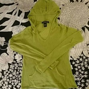 52 Weekends Tops - FINAL PRICE! DELETING! Sheer Green Hooded LS Shirt