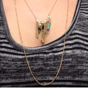 Boho Layered Beaded Chained Necklace