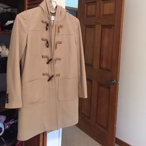 Jcrew wool cashmere coat with thinsulate