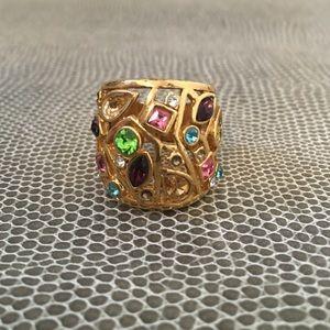 Gold Gem Ring