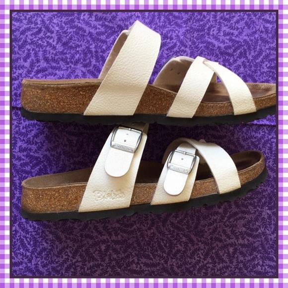 Birkenstock Shoes White Birkis By Sz 39 Eu Poshmark