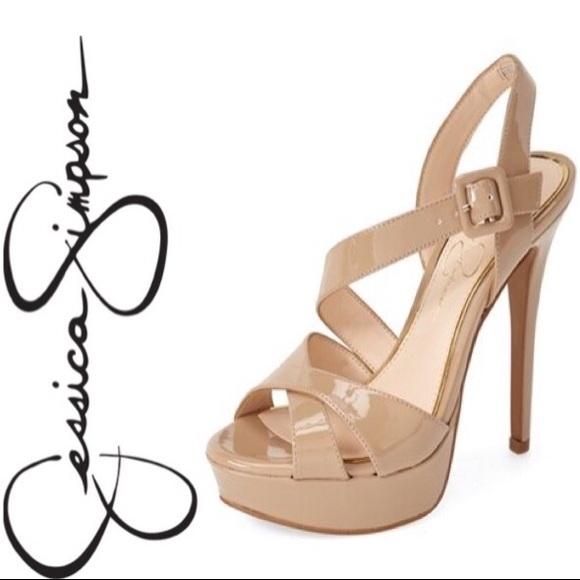 bf8d1ec36f86 Jessica Simpson Beverlie Heels in Nude 9.5