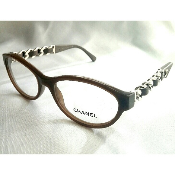 CHANEL Other | Auth Leather Chain Eyeglasses Frames | Poshmark