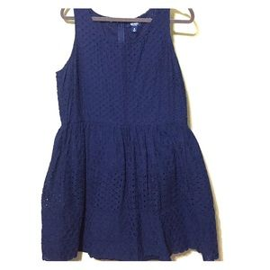 Old Navy Dresses & Skirts - Navy Blue Eyelet Dress