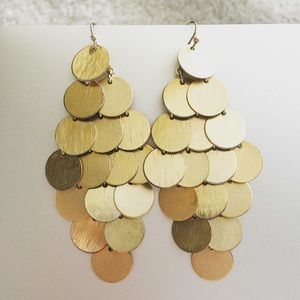 EXPRESS Scale Gold Earrings