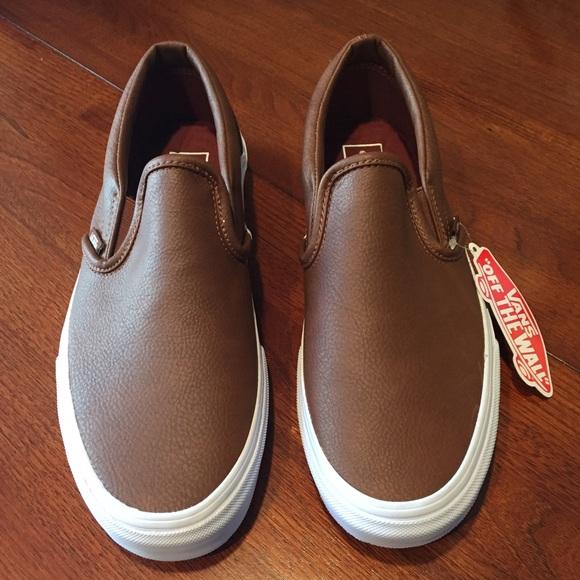 d3969674ab9b Vans NWT leather slip-ons