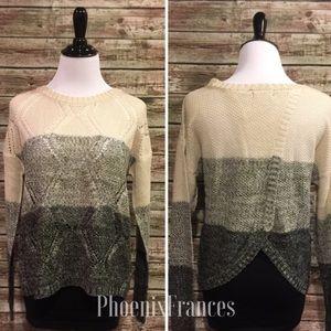 Sweaters - 🆕 NEW Ombré Knit Sweater Split Tulip Back