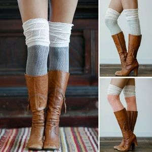 Over The Knee Color Block Socks