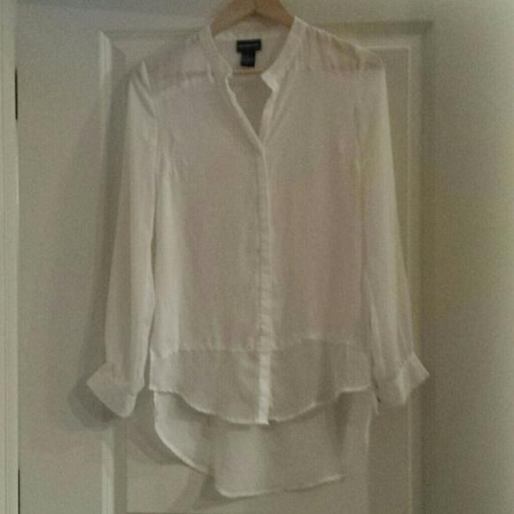 c2054c2c Central Park West Tops | White Flowy Buttondown Shirt | Poshmark