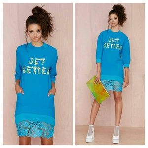 {three floor} jet setter lace sweater dress NWOT