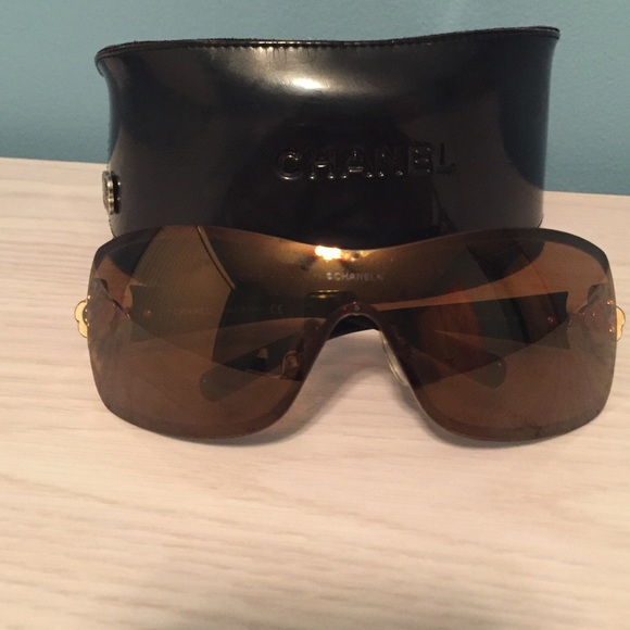 30738efbe2 CHANEL Accessories - Chanel 4164B shield style sunglasses
