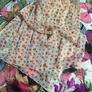 Accessories - Sheer Floral Scarf