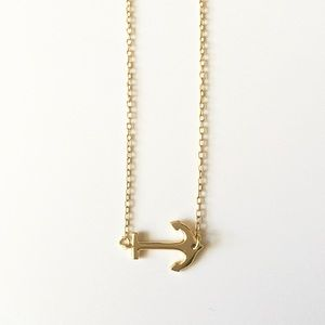 Anchor Gold Delicate Necklace
