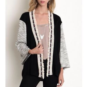 """Wallflower"" Knit Colorblock Loose Cardigan"