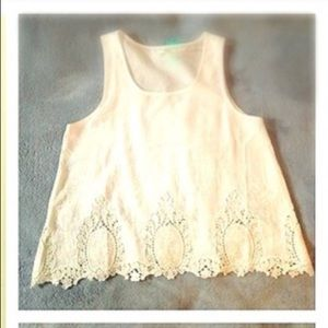 Eyelet white sleeveless top