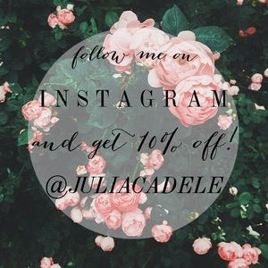 Other - FOLLOW MY INSTAGRAM & GET 10% OFF ANY PURCHASE!