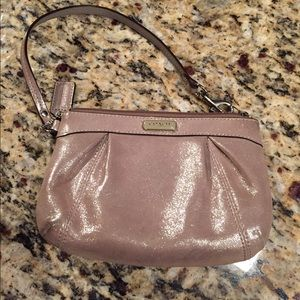 Authentic Coach Wristlet - Gold and Sparkly!!!